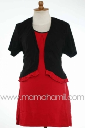 baju menyusui bolero pendek hitam   SD 181  large